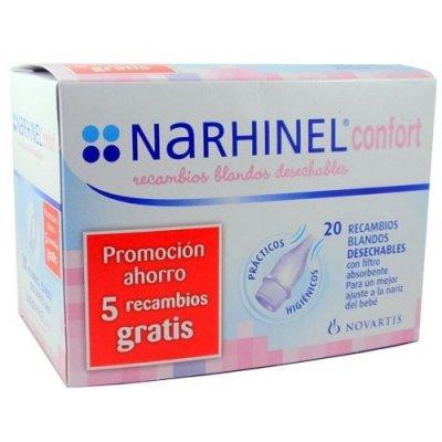 Narhinel Recambios Aspirador Nasal Confort, 20Ud