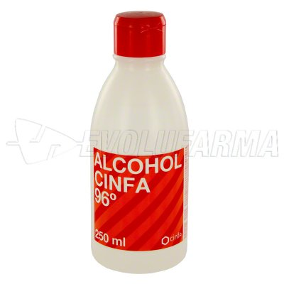 ALCOHOL 96º CINFA 250 ML