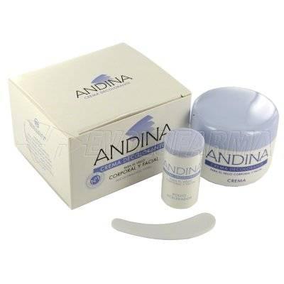 ANDINA CREMA DECOLORANTE. Envase 25 g.