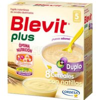 BLEVIT PLUS DUPLO 8 CEREALES CON NATILLAS, 600g