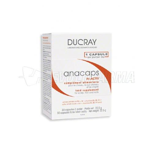 DUCRAY ANACAPS TRI-ACTIV COMPLEMENTE ALIMENTICIO. 30 cápsulas