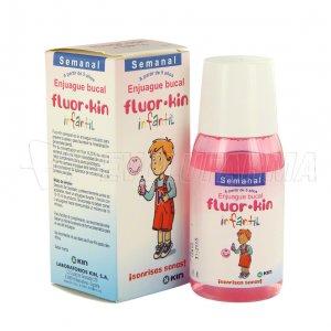 FLUOR KIN INFANTIL SEMANAL, ENJUAGUE BUCAL. Envase de 100 ml.