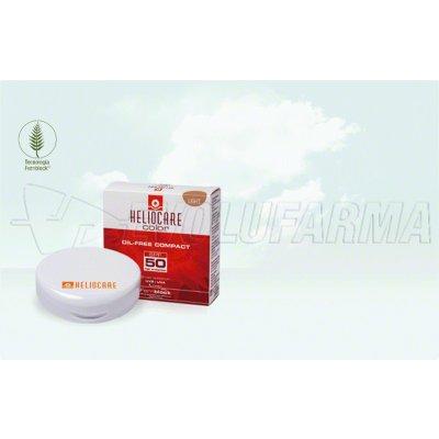 HELIOCARE COMPACT OIL FREE SPF 50 TONO LIGHT. Polvera de 10 gr. con esponja