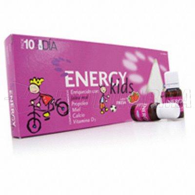HOMEOSOR ENERGY KIDS. Caja de 10 viales de 15 ml.