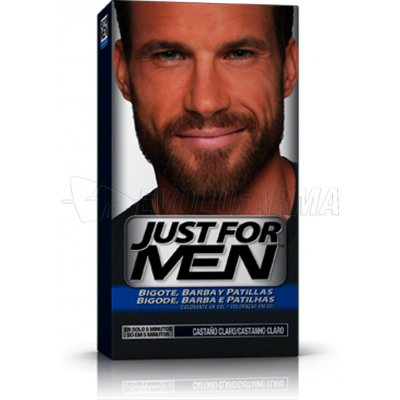 JUST FOR MEN COLORANTE EN GEL BIGOTE, BARBA Y PATILLAS CASTAÑO CLARO. 30 cc