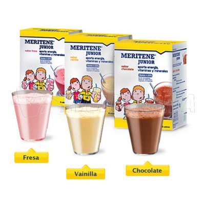 MERITENE JUNIOR SABOR CHOCOLATE. 15 Sobres.