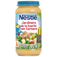 NESTLE. TARRITO DE JARDINERA DE LA HUERTA CON TERNERA. Tarro de 250 gr.