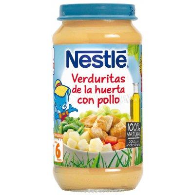 NESTLE. TARRITO PURE DE VERDURITAS DE LA HUERTA CON POLLO. Tarro de 250 gr.