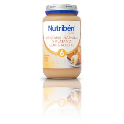 NUTRIBEN MANZANA - NARANJA - PLÁTANO - GALLETAS. Envase 250 g.