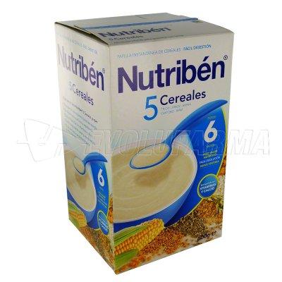 NUTRIBEN 5 CEREALES. Envase 600 g.