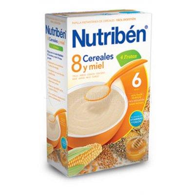 NUTRIBEN 8 CEREALES y MIEL 4 FRUTAS. Envase 600 g.