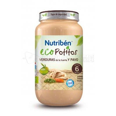 NUTRIBEN ECOPOTITO VERDURAS DE HUERTA CON PAVO, 250g