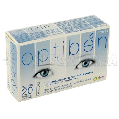 OPTIBÉN OJOS SECOS 20 AMPOLLAS UNIDOSIS