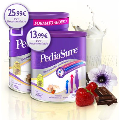 PEDIASURE CHOCOLATE EN POLVO. 850g