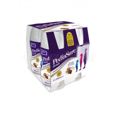 PEDIASURE DRINK SABOR A VAINILLA. Pack: 4 Botellas x 200 ml