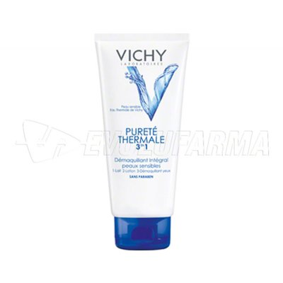 VICHY PURETE THERMAL DESMAQUILLANTE INTEGRAL 3 EN 1. Tubo de 300 ml.