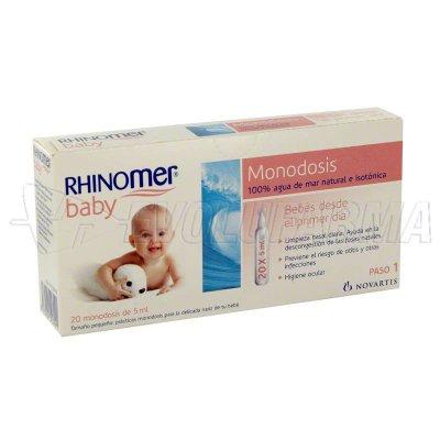 RHINOMER BABY. 20 Monodosis de 5 ml. c/u