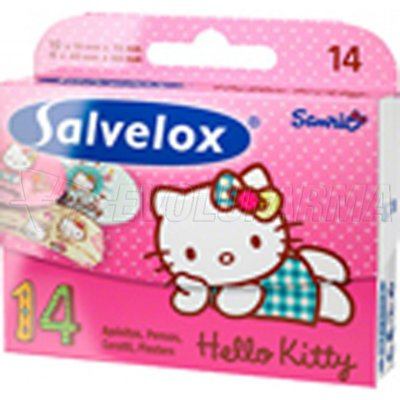 SALVELOX APOSITOS INFANTILES HELLO KITTY, 14 Unidades
