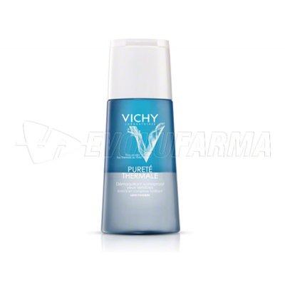 VICHY PURETE THERMAL DESMAQUILLANTE BIFÁSICO OJOS SENSIBLES. Envase de 150 ml.