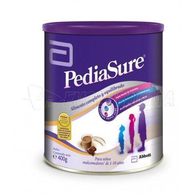 ABBOTT LAB PEDIASURE CHOCOLATE EN POLVO. Envase de 400 g.