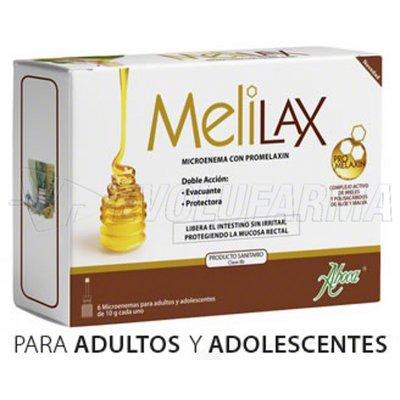 ABOCA MELILAX ADULTO. 6 microenemas desechables de 10 g cada uno