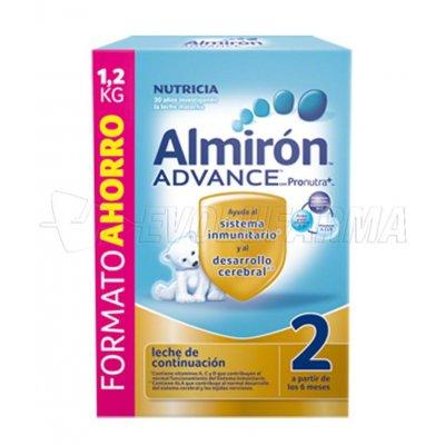 ALMIRON ADVANCE 2 CON PRONUTRA +. Envase 1.200 gr. con 3 bolsas de 400 gr. cada una