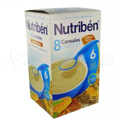 ALTER FCIA NUTRIBEN 8 CEREALES GALLETAS MARÍA. Envase 600 g.