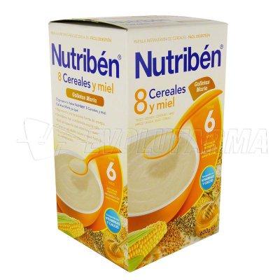 ALTER FCIA NUTRIBEN 8 CEREALES y MIEL GALLETAS MARÍA. Envase 600 g.