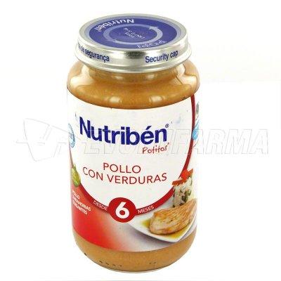 ALTER FCIA NUTRIBEN POLLO CON VERDURAS. Envase 250 g.