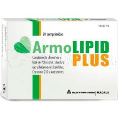 ARMOLIPID PLUS. Envase  20 comprimidos.