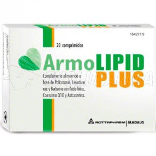 ARMOLIPID PLUS. Envase  20 comprimidos.