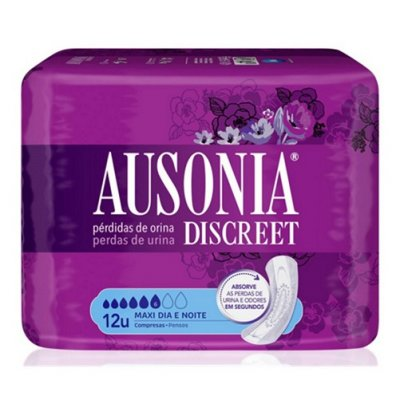 AUSONIA DISCREET MAXI DAY & NIGHT MAXI 12 U