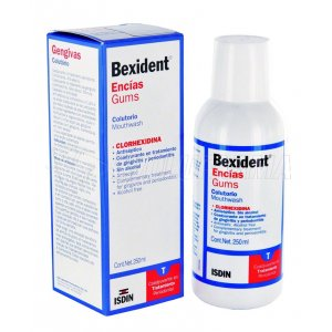 BEXIDENT ENCIAS. COLUTORIO CLORHEXIDINA. Envase 250 ml.