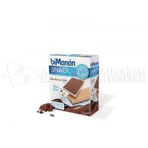 BIMANAN SNACK BARQUILLO CHOCOLATE CON LECHE SABOR YOGUR. 6 barquillos de 20 g