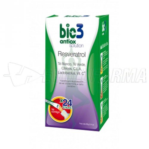 BIO3 ANTIOX SOLUTION. 24 sticks monodosis de 4 gr.