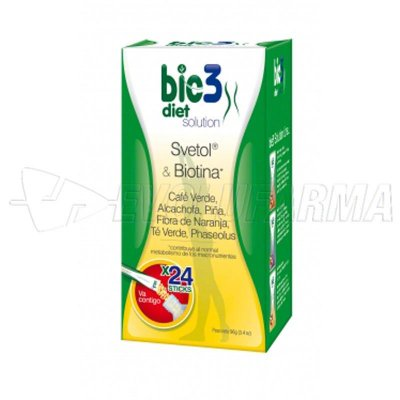 BIO3 DIET SOLUTION. 24 sticks monodosis de 4 gr.
