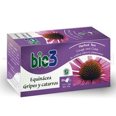 BIO3 EQUINÁCEA GRIPES Y CATARROS. 25 bolsitas de 1,5 gr.