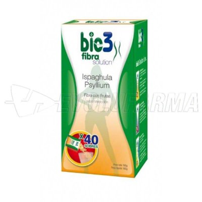 BIO3 FIBRA CON FRUTAS. 40 sobres de 4 gr.