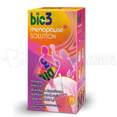 BIO3 MENOPAUSE SOLUTION. 30 sobres de 4 gr.