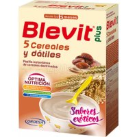 BLEVIT 5 CEREALES DATILES. Envase 300g