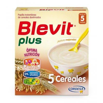 BLEVIT PLUS 5 CEREALES. Envase 600 g.