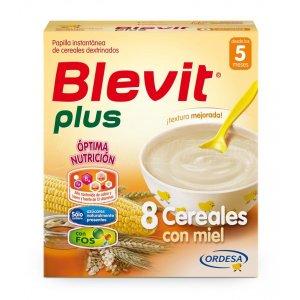 BLEVIT PLUS 8 CEREALES CON MIEL. Estuche de 600 g.