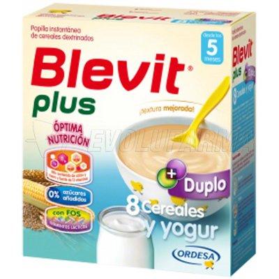 BLEVIT PLUS DUPLO 8 CEREALES Y YOGUR, 600g