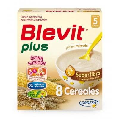 BLEVIT PLUS SUPERFIBRA 8 CEREALES. Envase 600 g.