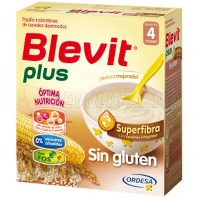BLEVIT PLUS SUPERFIBRA SIN GLUTEN, 600g