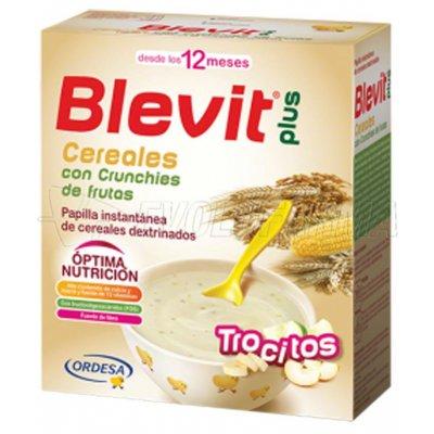BLEVIT PLUS TROCITOS DE CEREALES CON CRUNCHIES DE FRUTAS. 600 gr