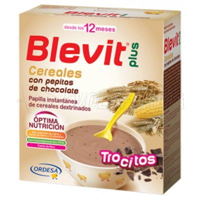 BLEVIT PLUS TROCITOS DE CEREALES CON PEPITAS DE CHOCOLATE. 600 gr