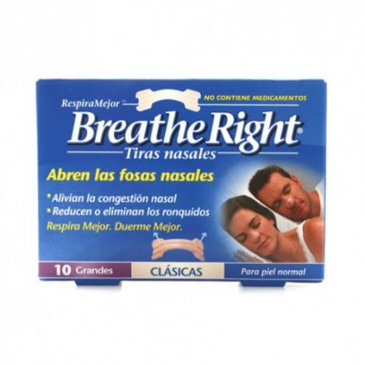 BREATHE RIGHT TIRA ADH NASAL T- GDE 10 U