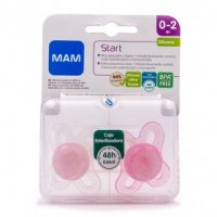 CHUPETE SILICONA MAM START 0 -2 MESES PACK DOBLE