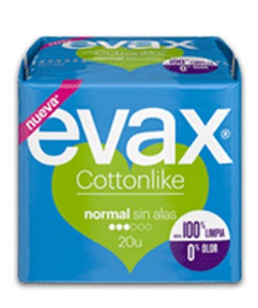 COMPRESAS HIGIENICAS FEMENINAS EVAX COTTONLIKE NORMAL 20 COMPRESAS